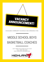Job Posting: MS Boys Basketball
