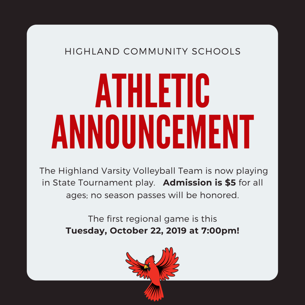 Athletic Announcement